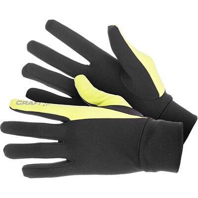Rukavice Craft Rukavice Thermal černá se žlutozelenou