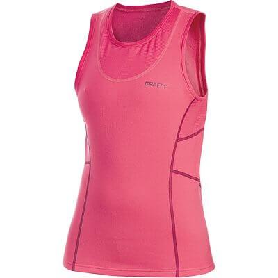 Trička Craft W Vesta Bodymapped růžová