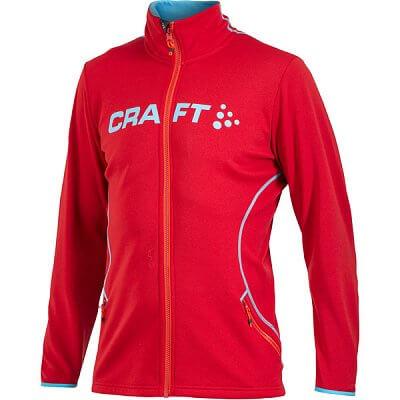 Mikiny Craft Mikina Logo FZ červená