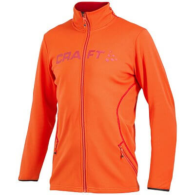 Mikiny Craft Mikina Logo FZ oranžová