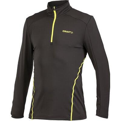 Mikiny Craft Rolák Facile Stretch Pullover černá se žlutou