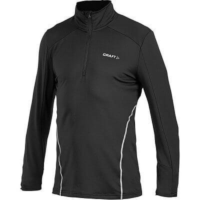 Mikiny Craft Rolák Facile Stretch Pullover černá s bílou