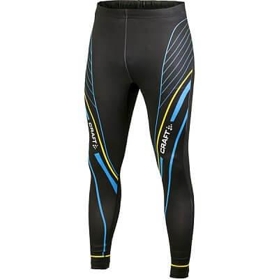 Kalhoty Craft Kalhoty PXC Tights černá s modrožlutou