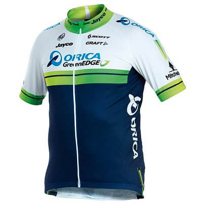 Trička Craft Cyklodres Orica GreenEdge Replica Junior bílo-modrá