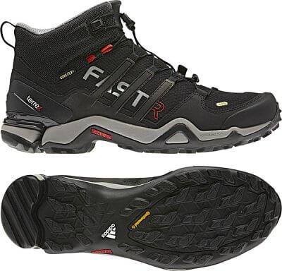 Pánská outdoorová obuv adidas terrex fast r mid gtx