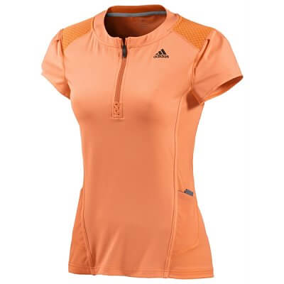 Dámské běžecké triko adidas as half zip t w