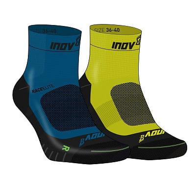 Ponožky Inov-8  RACE ELITE PRO SOCK blue/black + yellow/black modrá a žlutá