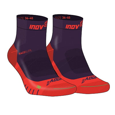 Ponožky Inov-8  RACE ELITE PRO SOCK purple/red fialová s červenou