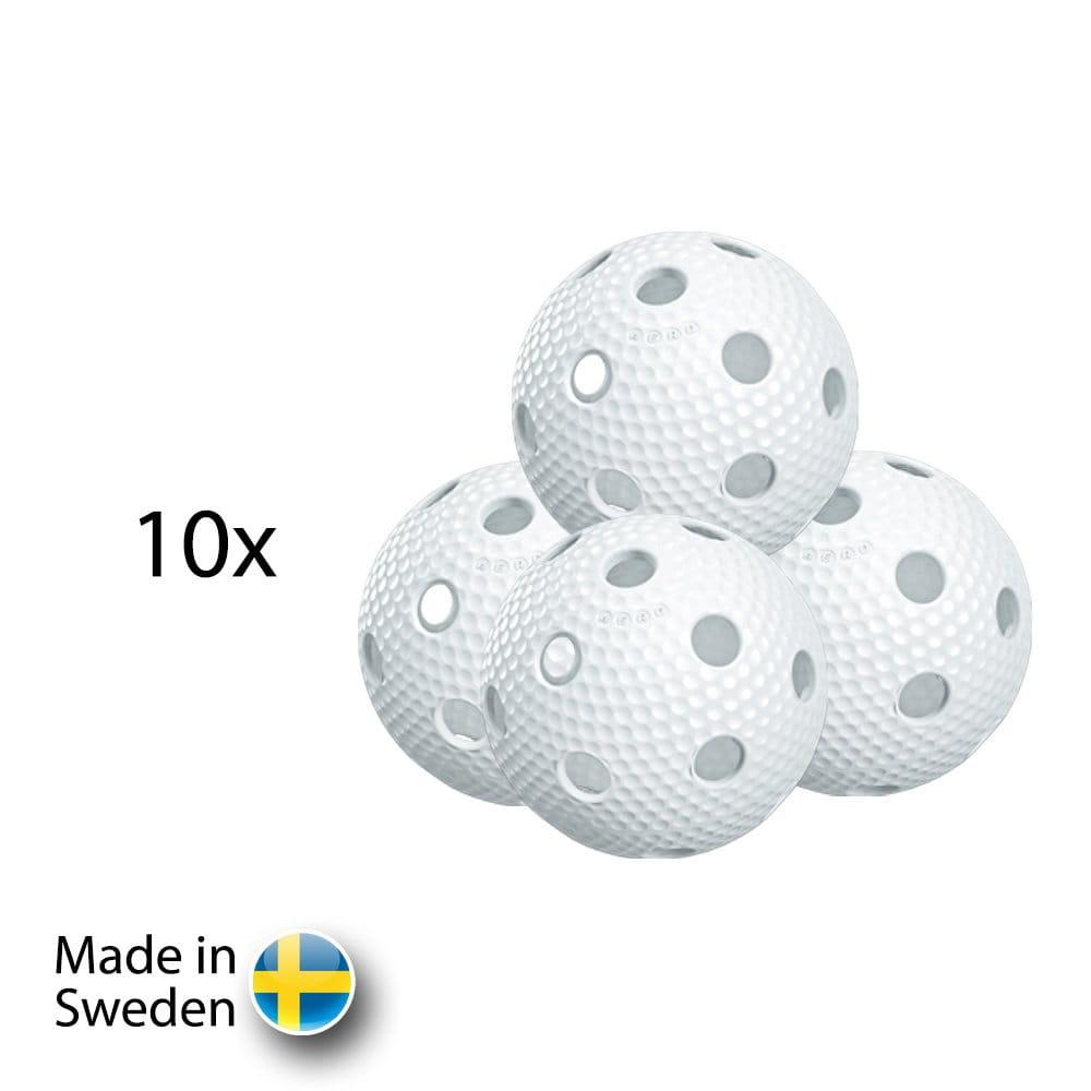 Míče Salming Aero Ball White 10 pack