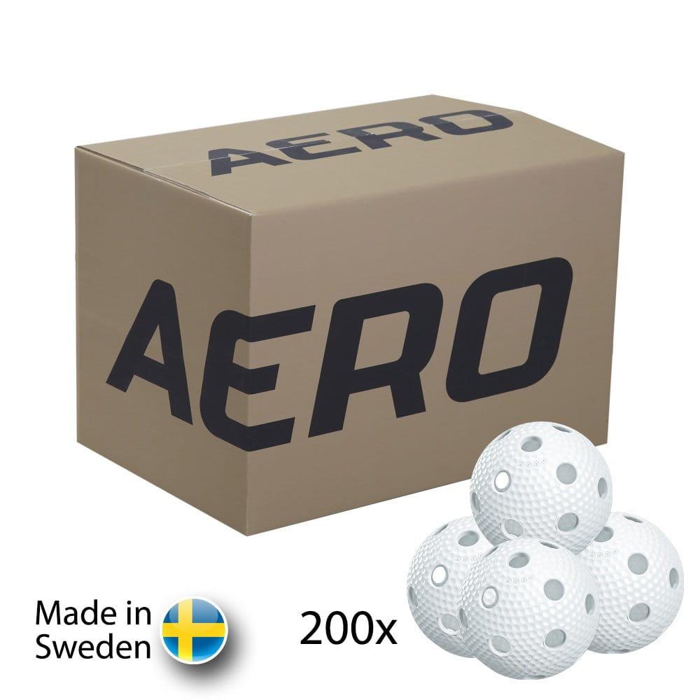 Míče Salming Aero Floorball White 200-pack
