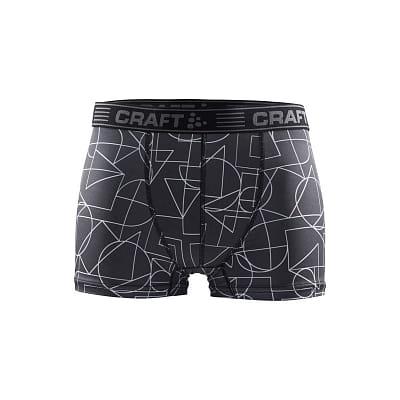 """Spodní prádlo Craft Boxerky Greatness 3"""" černá s bílou"""