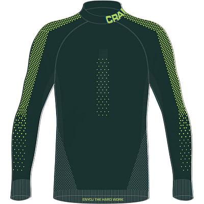 Pánské funkční triko Craft Triko Warm Intensity tmavě zelená