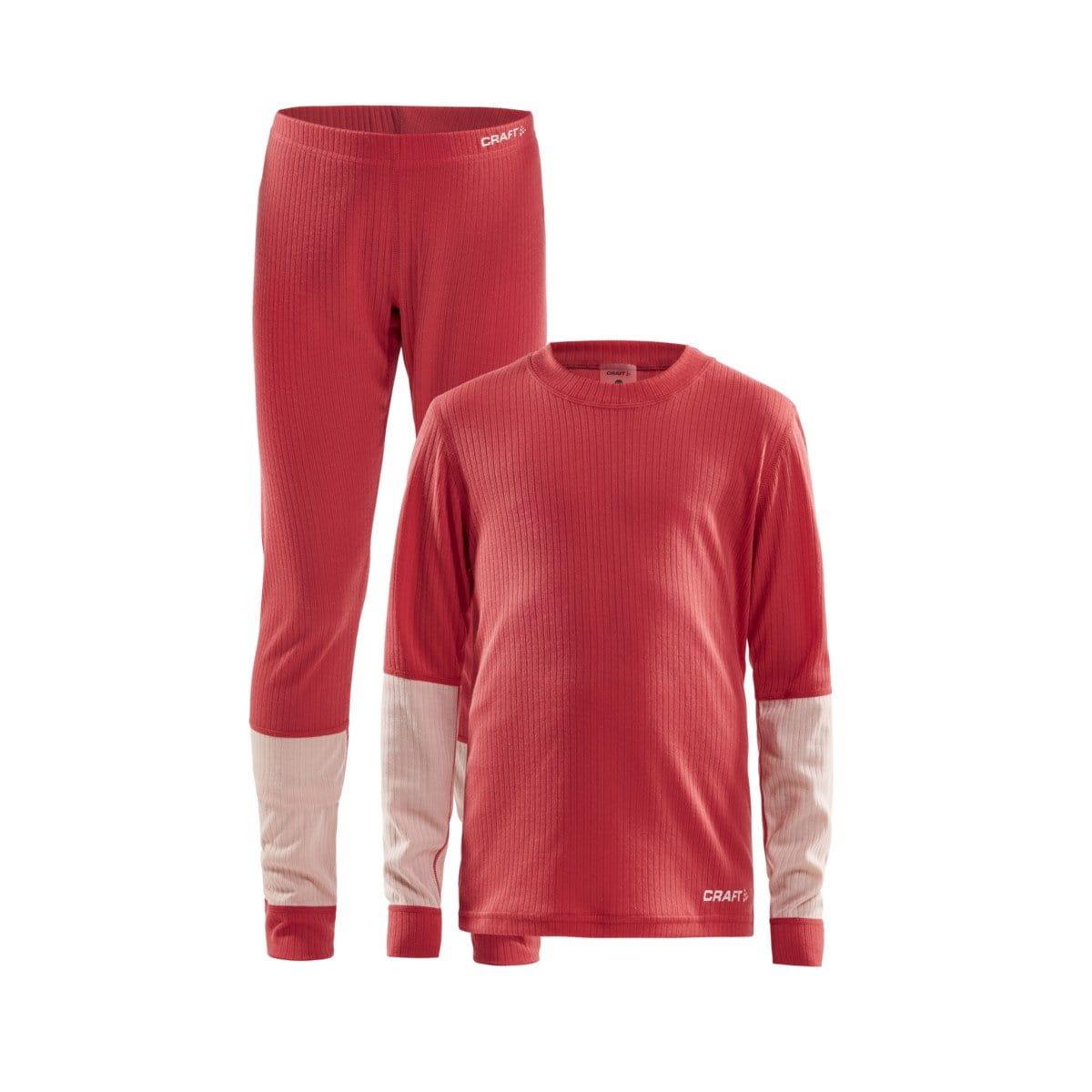 Spodní prádlo Craft Set Baselayer Junior červená s růžovou