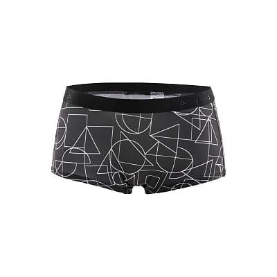 Spodní prádlo Craft W Boxerky Greatness Waistband černá s potiskem