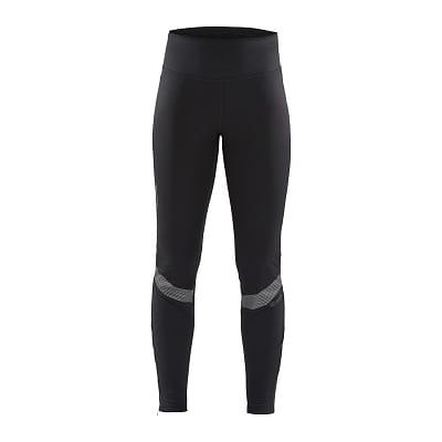 Kalhoty Craft W Kalhoty Lumen SubZ Wind Tights černá s potiskem