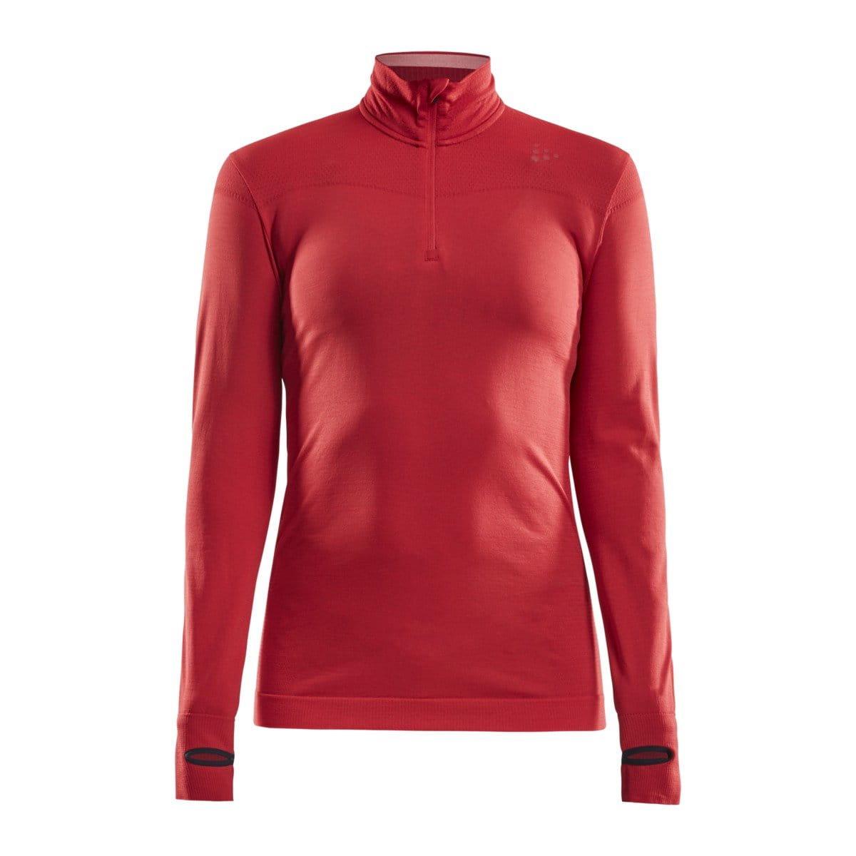 Dámské funkční triko Craft W Triko Fuseknit Comfort Zip červená