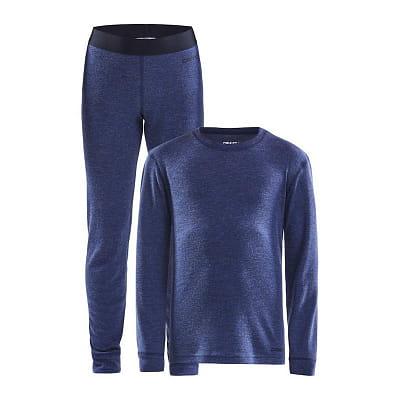 Spodní prádlo Craft Set Merino 180 Junior tmavě modrá
