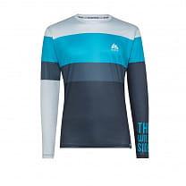 WildTee Běžecké Triko Colorblok Blue