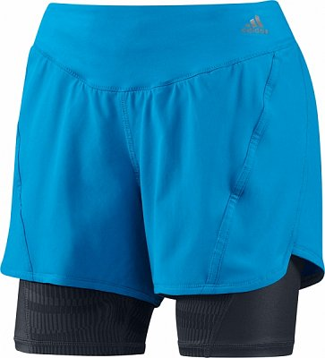 Dámské běžecké kraťasy adidas as 2 in 1 sho w