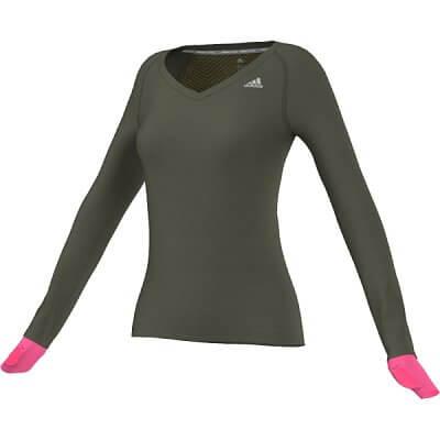 Dámské běžecké triko adidas sn l-s w