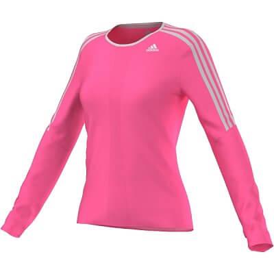 Dámské běžecké triko adidas response l/s tee w