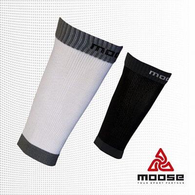 Moose Compress Booster - bílé - unisexové sportovní návleky