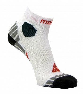 Unisexové běžecké ponožky Moose Ultramarathon White