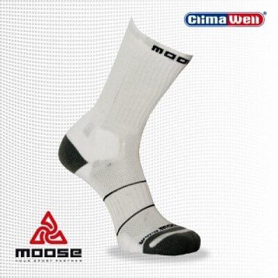 Unisexové ponožky Moose  Tennis - bílé