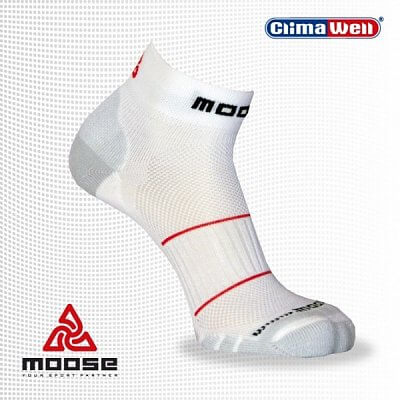 Ponožky Moose Squash- bílé - unisexové squashové ponožky