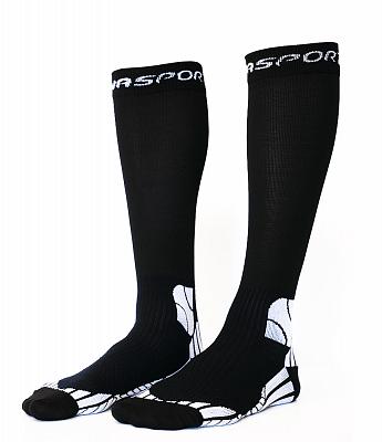 Ponožky Moose Compress Sanasport - černá - kompresní běžecké ponožky