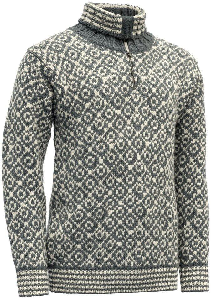 Teplý vlněný svetr se zipem Devold Svalbard Sweater Zip Neck