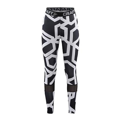 Nohavice Craft Kalhoty Focus Mesh JR bílá s černou