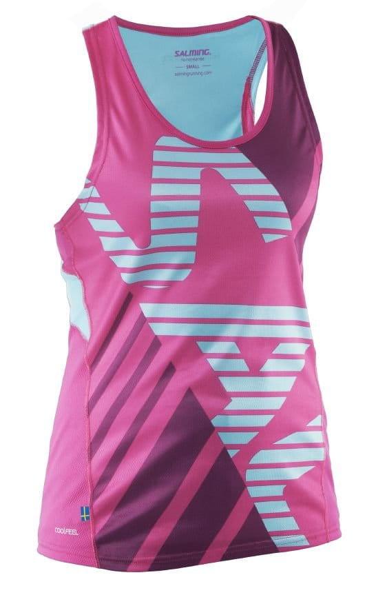 Tílka Salming Race Singlet Women Pink