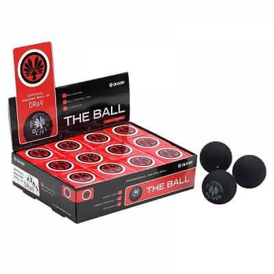 Squashové míčky - 12 kusů Oliver SQ BALL PRO 90 červená