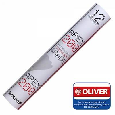 Badmintonové míčky - 12 kusů, rychlost 76 Oliver SHUTTLECOCKS APEX 200 bílá