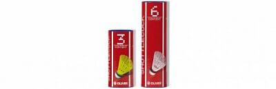 Badmintonové míčky - 6 kusů Oliver NYLONBALL PRO-TEC 5 - žlutá/modrá