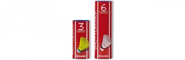 Badmintonové míčky - 6 kusů Oliver NYLONBALL PRO-TEC 5 - žlutá/červená