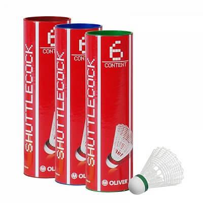 Badmintonové míčky - 6 kusů Oliver NYLONBALL PRO-TEC 5 - bílá/modrá