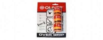 Squashový grip Oliver OVER GRIP BICOLOR oranžový 3 kusy