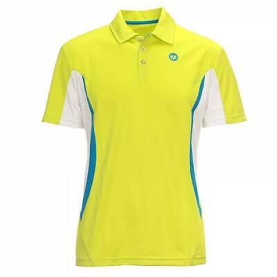 Trička Oliver SANTIAGO POLO žlutá/modrá - pánské triko