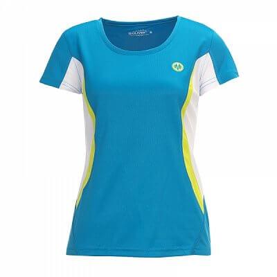 Trička Oliver SANTIAGO LADY SHIRT modrá/žlutá - dámské triko