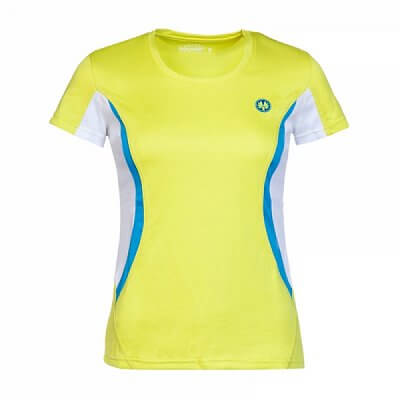 Trička Oliver SANTIAGO LADY SHIRT žlutá/modrá - dámské triko