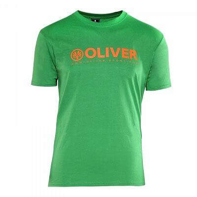 Trička Oliver T-SHIRT PROMO BASIC zelená - dámské a pánské triko