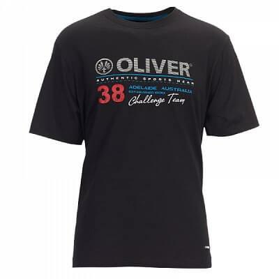 Trička Oliver T-SHIRT ADELAIDE černá - pánské triko