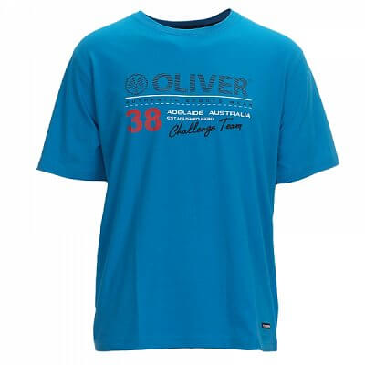 Trička Oliver T-SHIRT ADELAIDE modrá - pánské triko