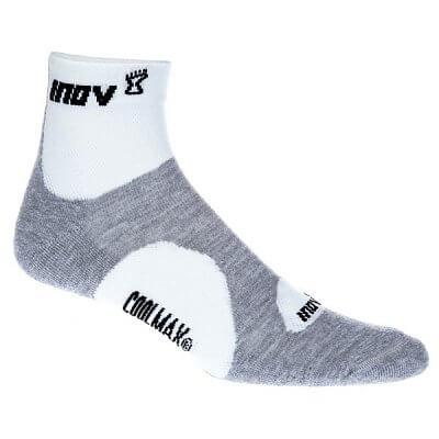 Ponožky Inov-8 RACESOC mid 2p white/grey bílá
