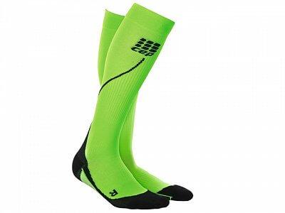 Ponožky CEP Běžecké podkolenky pánské zelená / černá