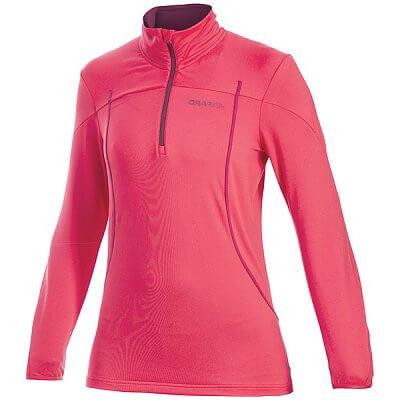 Mikiny Craft W Rolák Lightweight Stretch Mesh Pullover růžová s fialovou