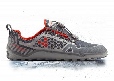 Dámské běžecké boty VIVOBAREFOOT TRAIL FREAK WP L HP Mesh Grey/Red