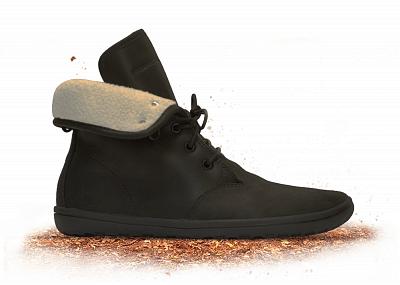 Dámská vycházková obuv VIVOBAREFOOT GOBI L Hi Top Black